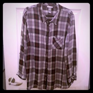 Plaid blouse by Catherines